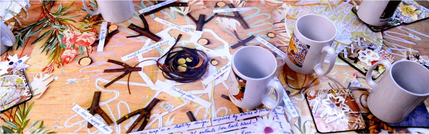 paper, mugs a workshop image