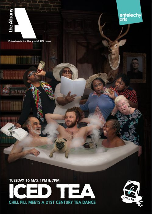 8 People in and around a bathtub