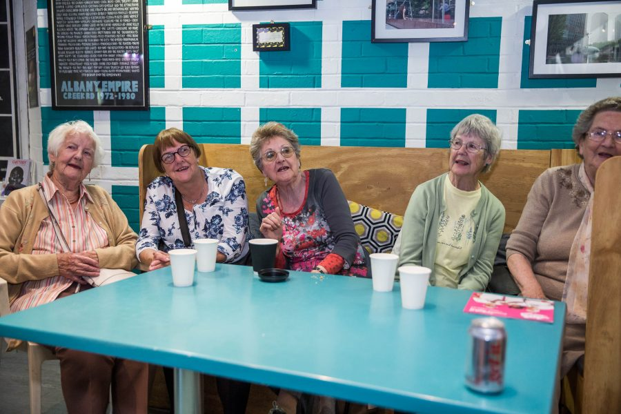older women sittinga round a table