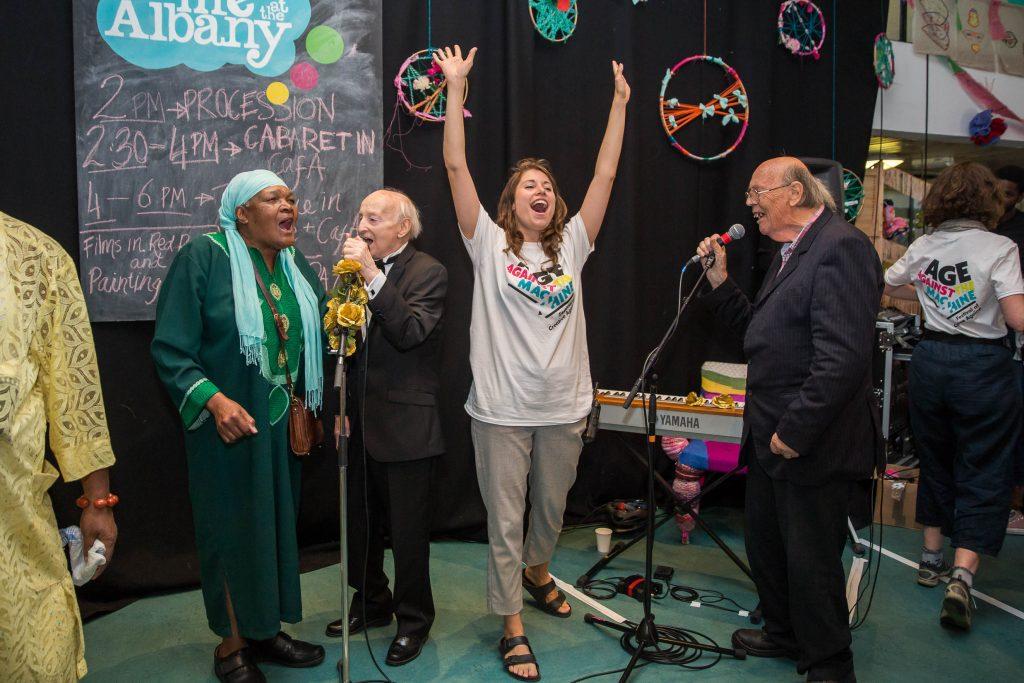 older people singing
