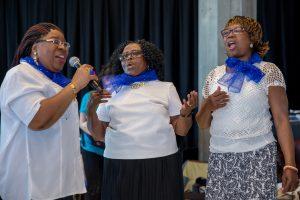 Three elder women choir singers
