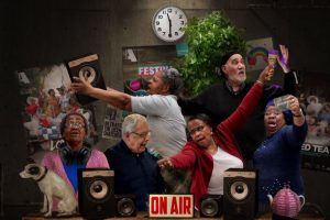 older people celebrating